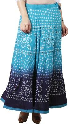 Haniya Printed Women's Regular Blue Skirt