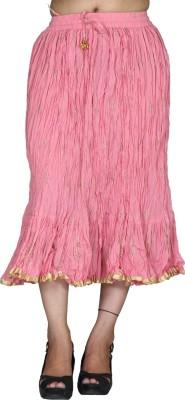 Chhipaprints Printed Women's Regular Pink Skirt