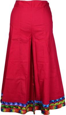 Shopatplaces Solid Women's Regular Pink Skirt