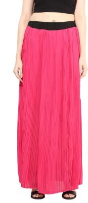 Martini Solid Women's Regular Pink Skirt