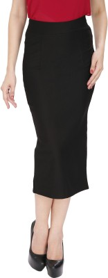 Svt Ada Collections Solid Women's Pencil Black Skirt