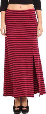 Camino Striped Women's Regular Pink, Black Skirt