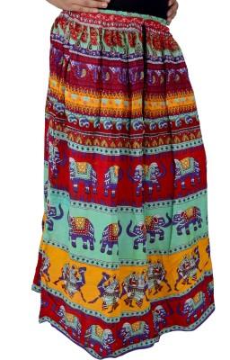 Panno Animal Print Women's Broomstick Multicolor Skirt at flipkart