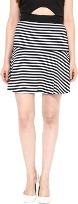 Miss Chase Striped Women's Peplum White Skirt at flipkart