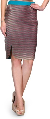 Bumpkin Geometric Print Women's Pencil Pink, Green Skirt
