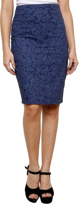 Purplicious Paisley Women's Pencil Blue Skirt at flipkart