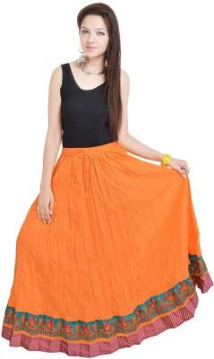 UFC Mart Embroidered Women's Regular Orange Skirt