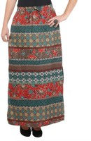 Purys Printed Womens A-line Multicolor Skirt