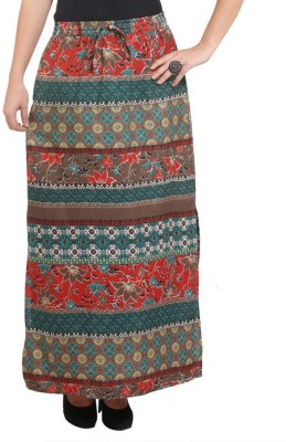 Purys Printed Women's A-line Multicolor Skirt