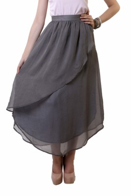Belle Fille Polka Print Women's A-line Multicolor Skirt