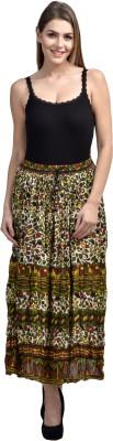 Shopping Queen Animal Print Women's Regular Green Skirt
