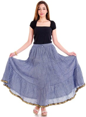 Sunshine Self Design Women's Regular Blue Skirt