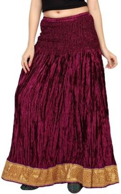 Carrel Embroidered Women's Wrap Around Purple Skirt