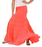 Skirts & Scarves Solid Women's Tiered Pi...