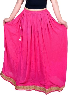Decot Paradise Solid Women's Regular Multicolor Skirt