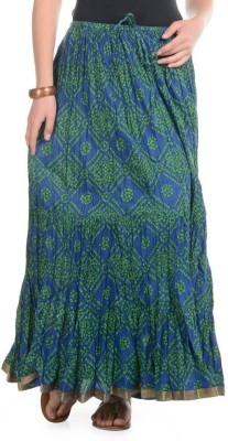 Home Shop Gift Printed Women,s Broomstick Blue Skirt