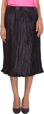Megha Solid Women's Regular Black Skirt