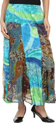 Sataro Printed Women's Straight Multicolor Skirt