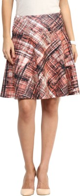 Rare Checkered Women's Pleated Multicolor Skirt