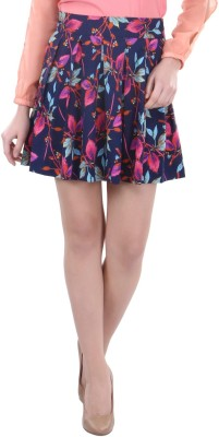 Street 9 Floral Print Women's Pleated Multicolor Skirt