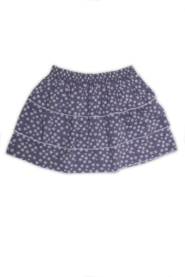 Nino Bambino Floral Print Girl's Layered Purple Skirt