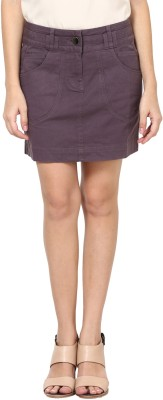 Species Solid Women's Straight Grey Skirt