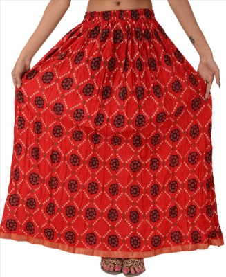 Skirts & Scarves Self Design Women's A-line Red Skirt