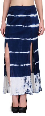 India Inc Printed Women's Pencil Blue Skirt