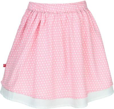 Nino Bambino Polka Print Girl's Gathered White, Pink Skirt