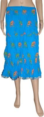 Pinkcityvilla Striped Women's Regular Blue Skirt