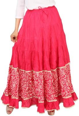 Carrel Printed Women's Broomstick Pink, Beige Skirt