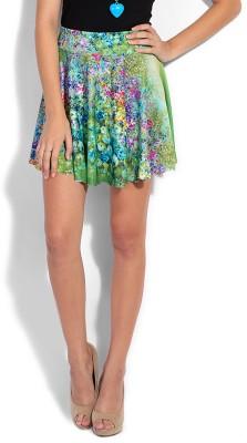 Heart 2 Heart Printed Women's Multicolor Skirt
