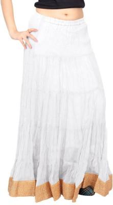 Carrel Solid Women's Wrap Around White Skirt