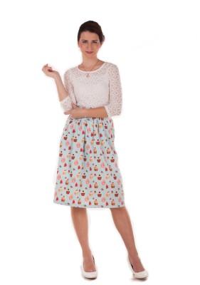 Bandbox Graphic Print Women's Regular Green Skirt