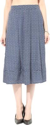 SbuyS Printed Women's Regular Blue Skirt