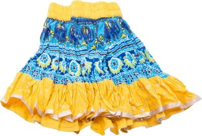 Sunshine Printed Women's A-line Yellow Skirt