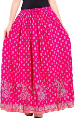 Decot Paradise Printed Women's Regular Pink Skirt
