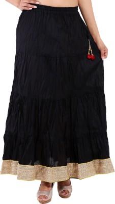Magnus Solid Women's Regular Black Skirt at flipkart