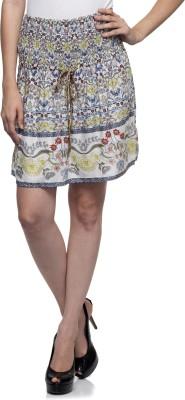 One Femme Floral Print Women's Regular Multicolor Skirt