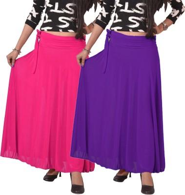 carrol Solid Women's A-line Pink, Purple Skirt
