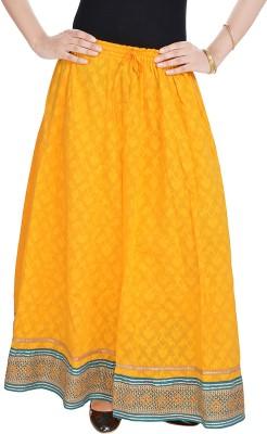UFC Mart Embroidered Women's Regular Yellow Skirt