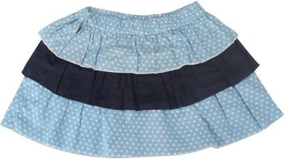 Nino Bambino Polka Print Girl's Layered Multicolor Skirt