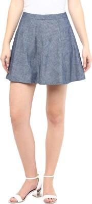 SbuyS Solid Women's Regular Grey Skirt