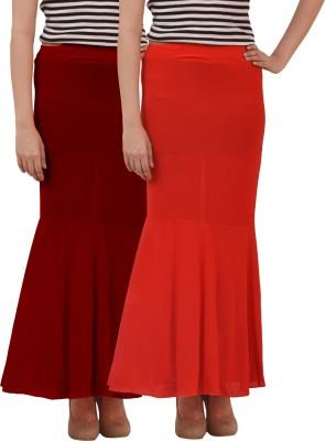 carrol Solid Women's Regular Red, Maroon Skirt