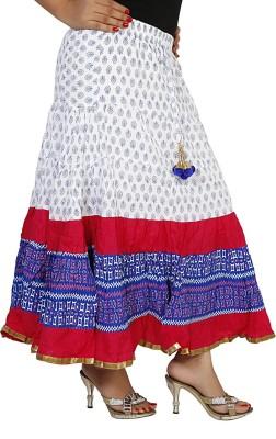 Sringar Solid Women's Regular White Skirt