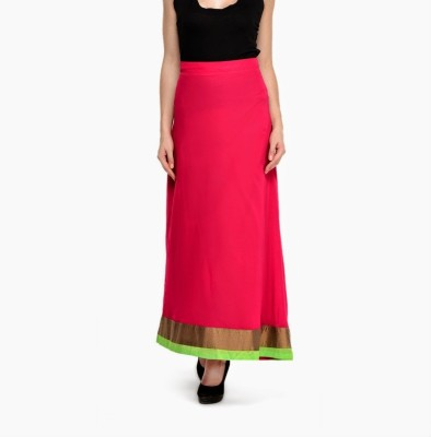 Navyou Solid Women's A-line Pink Skirt