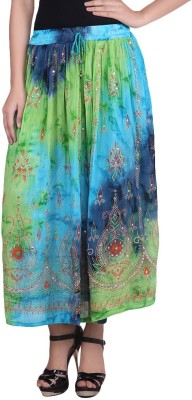 fashionmandi Embroidered Women's Regular Multicolor Skirt