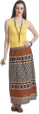 Bohemian You Printed Women's A-line Multicolor Skirt