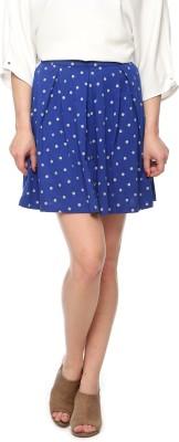 Vvoguish Printed Women's Regular Blue Skirt