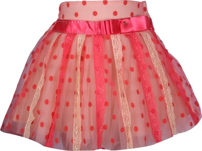 Cutecumber Polka Print Girl's A-line Red Skirt